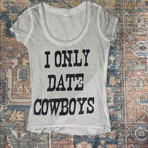 Express country graphic tee - I Only Date Cowboys